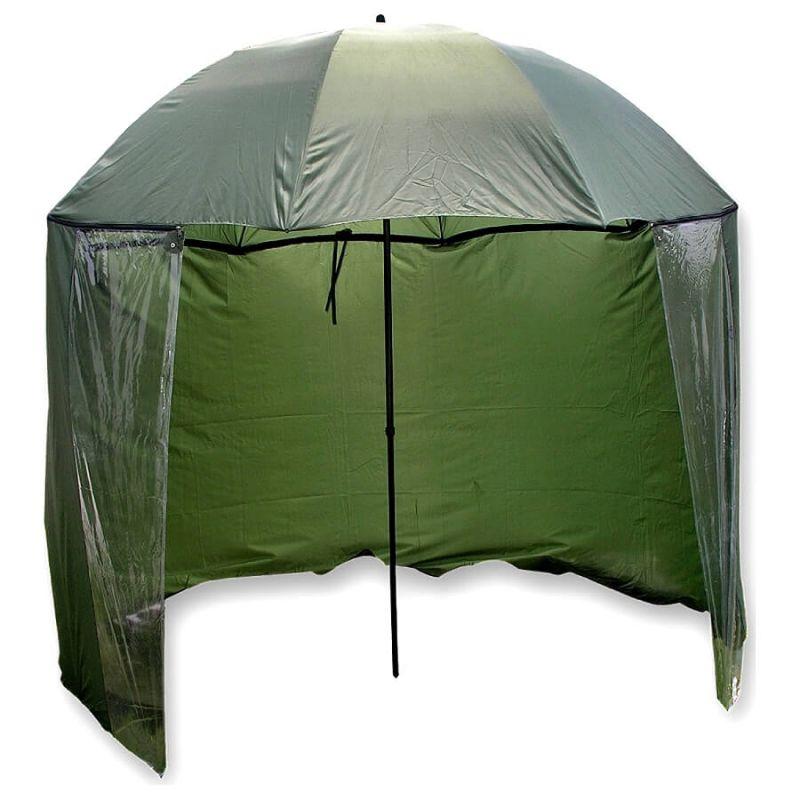 Зонт рыболовно-туристический MIFINE с тентом от ветра. Высота 2 метра